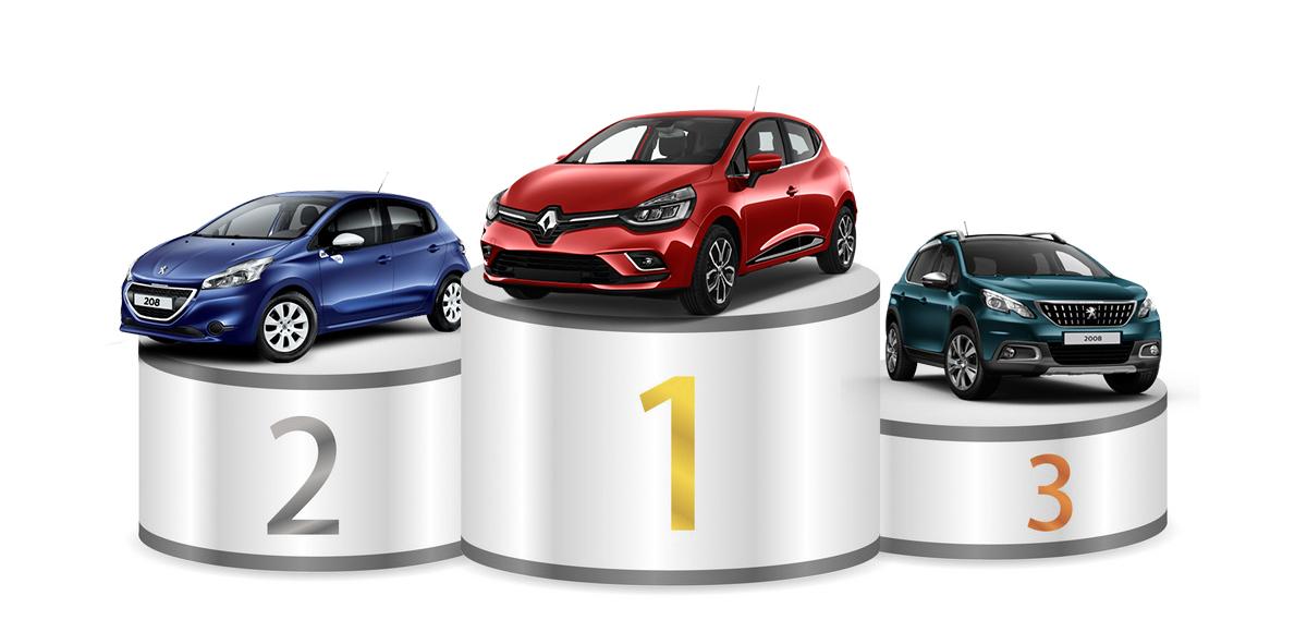 les voitures les plus vendues en france en 2018